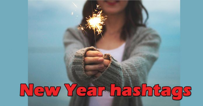 New Year hashtags