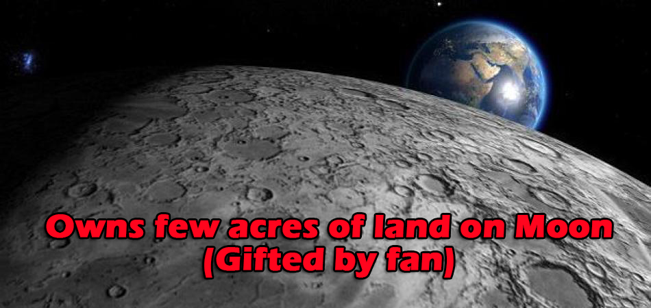 Shahrukh Khan Owns few acres of land on Moon