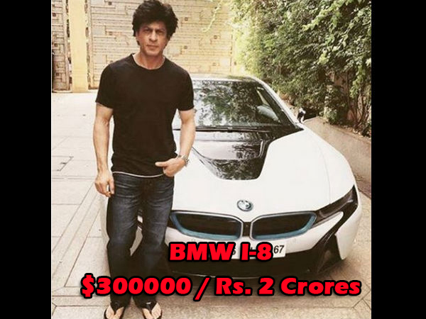Shahrukh Khan with his new car bmw i-8